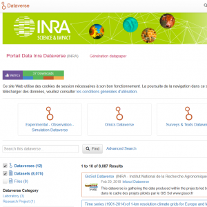 Portail Data Inra : nouvelle version (31/05/2018)