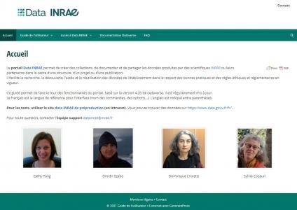 Data INRAE : le guide de l'utilisateur fait peau neuve !